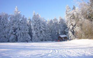 Skianlage Schloppach Skihang Schnee